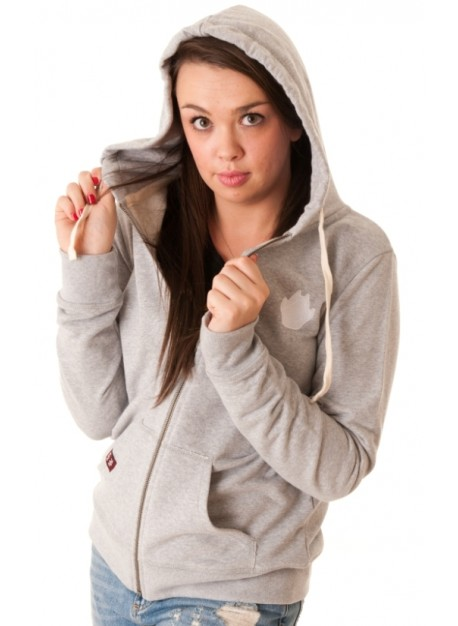 Female Hoodie - Heather Grey